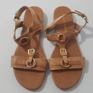Franco Sarto Tan Leather Sandals Size 8